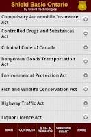 Screenshot of Shield Basic - Ontario