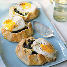 Swiss Chard-Ricotta Galettes with Fried Eggs