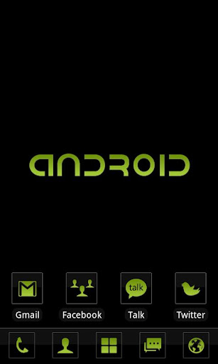 c-black-theme-go-launcher-ex for android screenshot