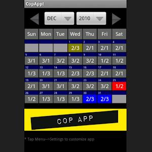 CopApp ! Calendar Schedule For PC / Windows 7/8/10 / Mac – Free Download