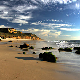 Summer day by Gil Reis - Landscapes Beaches ( sand, beaches, cliffs, nature, holidays, summer, sea, travel, rocks )