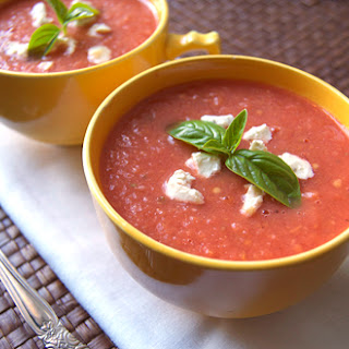 Roasted Peach & Tomato Gazpacho