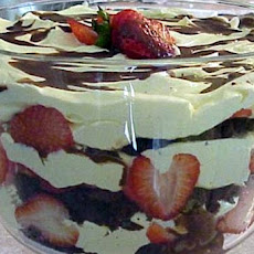 Brownie Strawberry Trifle