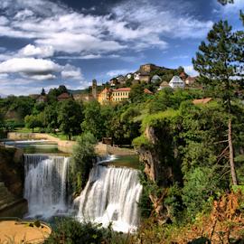 Old Town Jajce by Suzana Svečnjak - City,  Street & Park  Historic Districts ( bosnia and herzegovina, jajce, waterfall, old town )