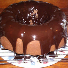 Chocolate Pound Cake with Fudge Glaze