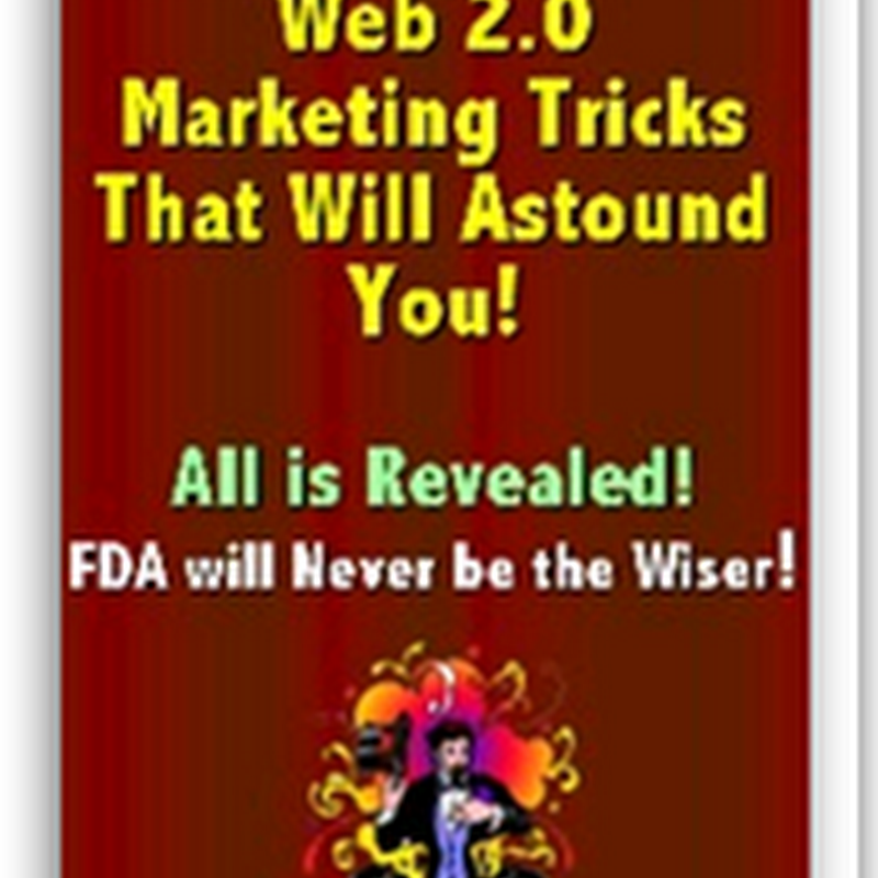 Web 2.0 Pharma Marketing Tricks for Dummies