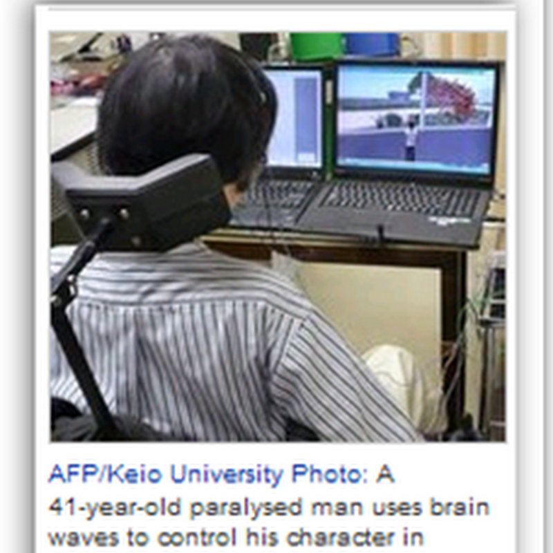 Paralyzed man takes a walk in virtual world