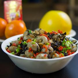 chinese new year by Elaina Edzahar - Food & Drink Cooking & Baking ( dinner, friends, food, family, taro, gathering, cooking, chinesenewyear, chinesenewyeareve, yam, meal, mushrooms )