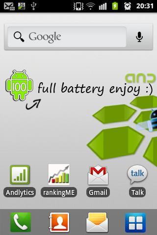Battery indicator - Widget