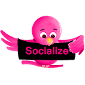 Pink Socialize for Twitter icon