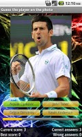 Screenshot of Tennis Players Quiz
