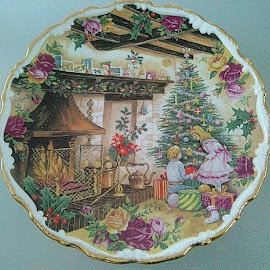 Decorating the tree by Lyz Amer - Artistic Objects Cups, Plates & Utensils ( plate )