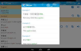 Screenshot of Chinese Dictionary/Translator