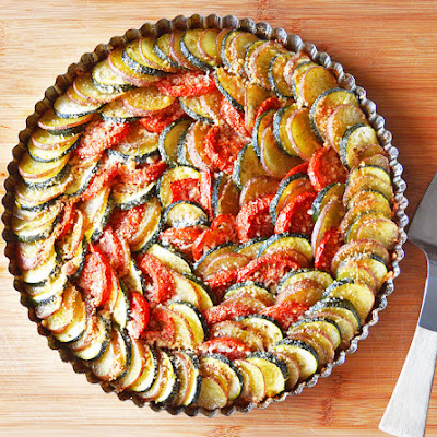 Zucchini, Potato and Tomato Casserole {Vegan}