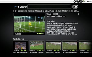 Screenshot of My Youtube Viewer