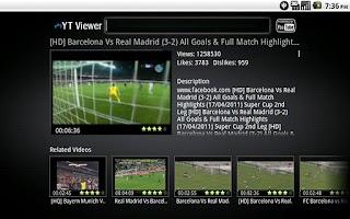 Screenshot of My Youtube Viewer