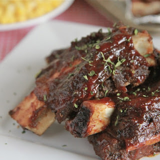 Oven Baked BBQ Beef Ribs