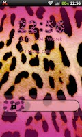 Screenshot of GO Locker Pink Leopard Theme