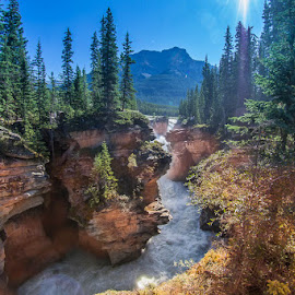 Canyon with waterfall by Kevin Yang - Landscapes Travel ( canyon, rapids, landscape )