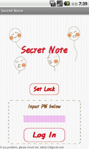 secret note memo