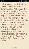 Screenshot of Tafsir Ibn Kathir (English)