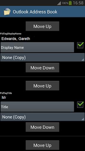 Address Book for Outlook Extra - screenshot