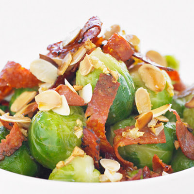 Sprouts With Chorizo And Almonds