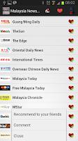 Screenshot of Malaysia Newspaper and News