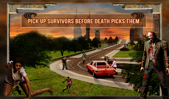 Screenshot of Zombie Death Drive 3D