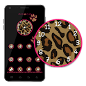 Go Launcher Theme Pink Leopard icon