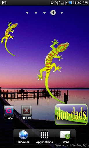 Gecko doo-dad org yell green
