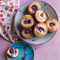 Tiny Cherry and Almond Tea Cakes