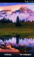 Screenshot of Mountain Lake. Live Wallpaper.