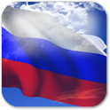 3D Russia Flag + icon