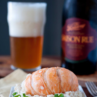 Beer and Butter Poached Lobster with Saison Risotto