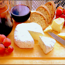 Cheese Tray by Elfie Back - Food & Drink Meats & Cheeses ( wine, cheese course, bread, cheese tray, cheese,  )