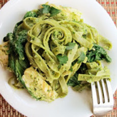 Chicken with Spinach Tagliatelle and Parsley Pesto