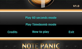 Screenshot of Note Panic