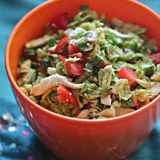 Cobb Salad-Inspired Brussels Sprouts With Lemon Vinaigrette