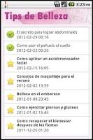 Screenshot of Tips de Belleza