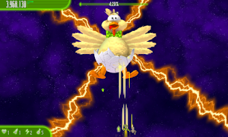 Screenshot of Chicken Invaders 4 Easter