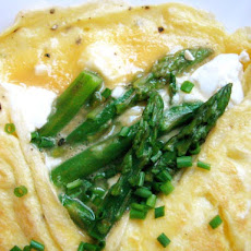 Asparagus and Goat Cheese Omelet For Two