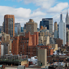 New York From Gramercy East by Alan Roseman - City,  Street & Park  Skylines