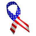 American Flag Ribbon Clock icon