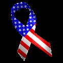 American Flag Ribbon Clock icon