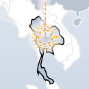 DDoS attacks corresponding to protests in Thailand.
