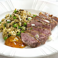 Fragrant Duck Breasts With Wild Rice Pilaf
