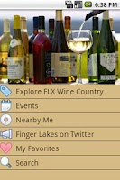 Screenshot of Finger Lakes Wine Country