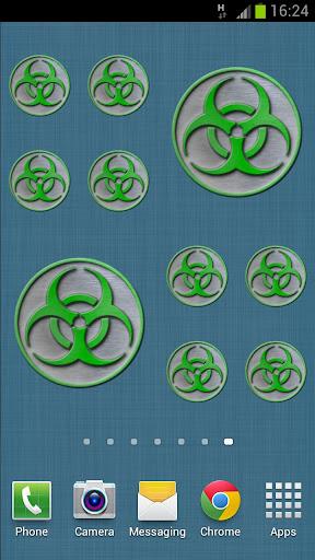 Biohazard Sticker Widget