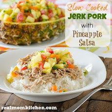 Slow Cooked Jerk Pork with Pineapple Salsa